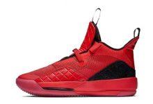 格雷格·门罗脚踩黑/红色Air Jordan XXXIII PE对阵篮网
