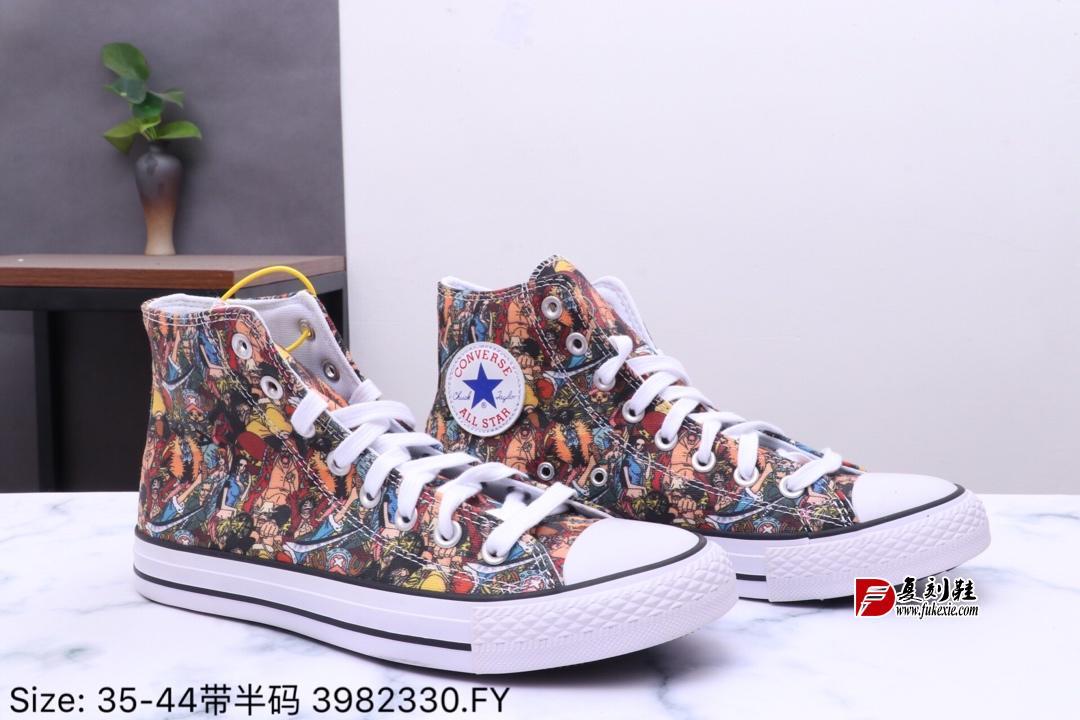 匡威100周年One Piece x Converse All Star HI高帮硫化帆布板鞋