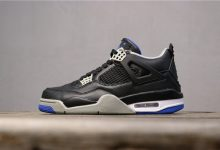 """乔丹4代Air Jordan 4 """"Black / White"""" 黑蓝货号:308497-006"""