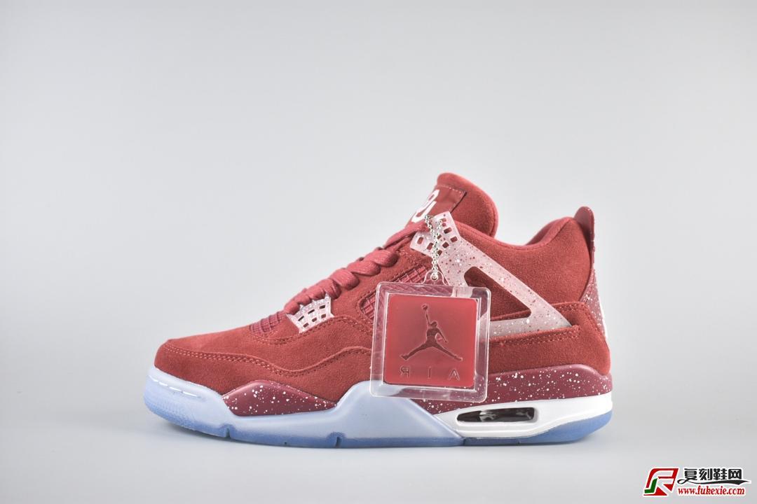Air Jordan 4 Retro Oklahoma Sooners PE大学红泼墨冰蓝货号:AJ4-1032076  | 复刻鞋网 fukexie.com