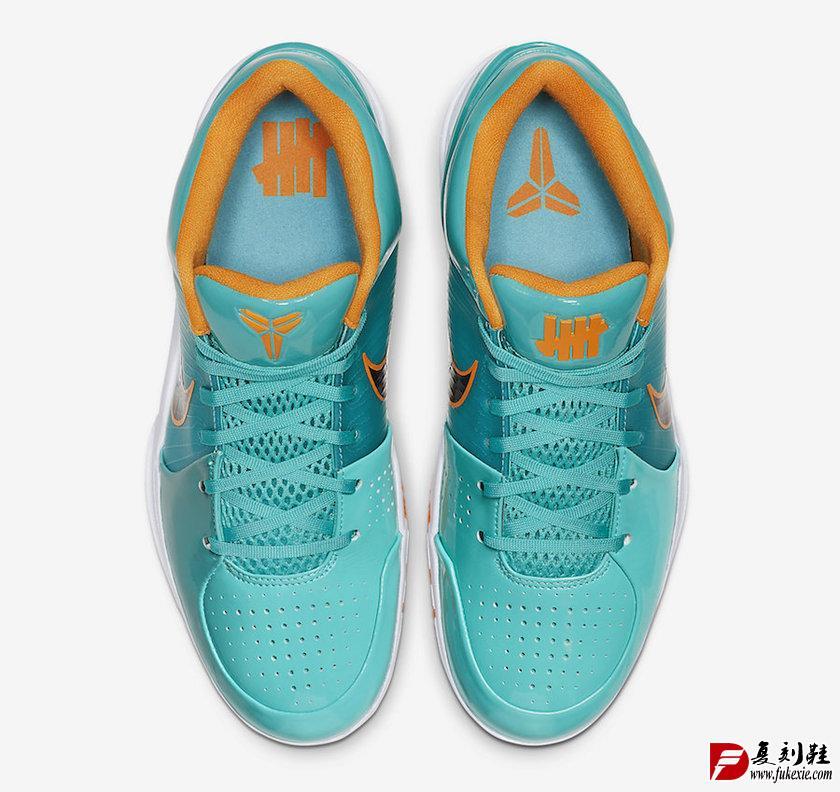 Undefeated x Nike Kobe 4 Protro以湖人、太阳、马刺和雄鹿队为灵感 货号CQ3869-300 | 复刻鞋网 fukexie.com