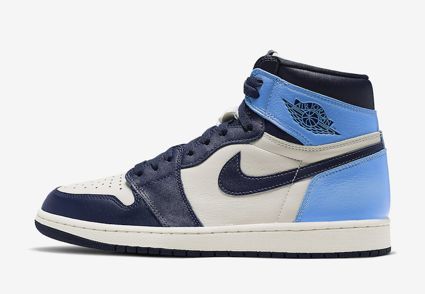 Air Jordan 1 Obsidian University Blue 555088-140 2019 复刻鞋网 fukexie.com