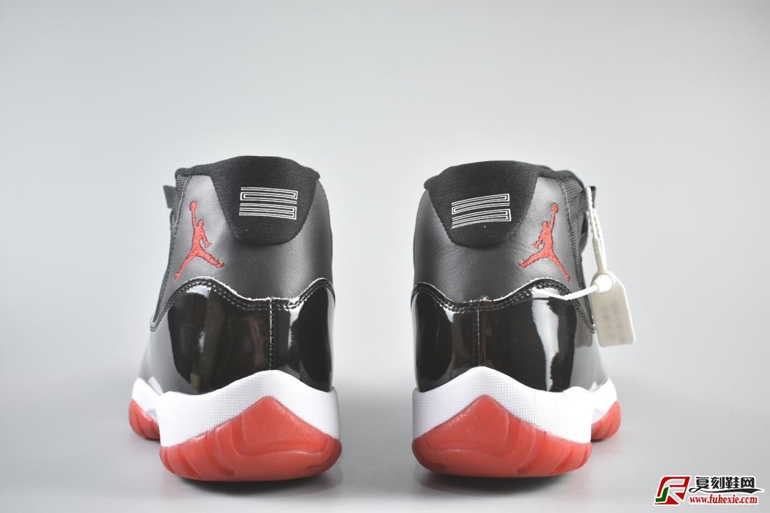 "Air Jordan 11 ""Bred"" 经典的黑红货号:378037-061   复刻鞋网 399.name"
