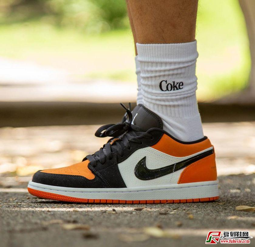 "Air Jordan 1 Low ""Shattered Backboard""低帮扣碎上脚图货号:553558-128 