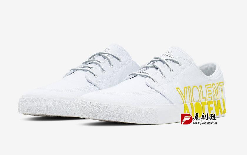 "联名Nike SB Stefan Janoski""Violent Femmes""货号:CI6898-100  复刻鞋网 fukexie.com"