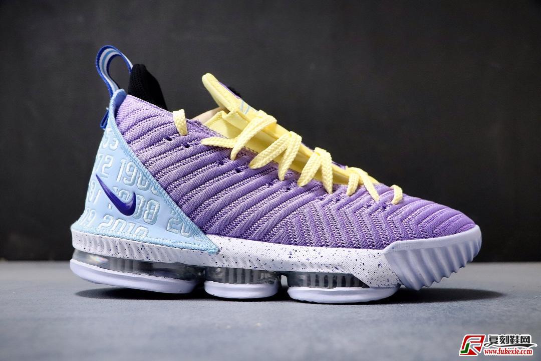 Nike Lebron 16 Lakers 紫黄货号:CK4765-500