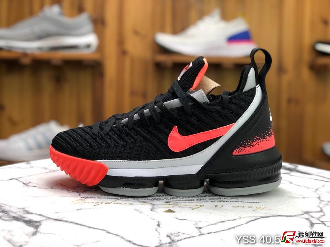 Nike LeBron XVI Hot Lava 詹姆斯16 白粉热熔岩实战篮球鞋货号:CI1521-001 | 复刻鞋网 fukexie.com