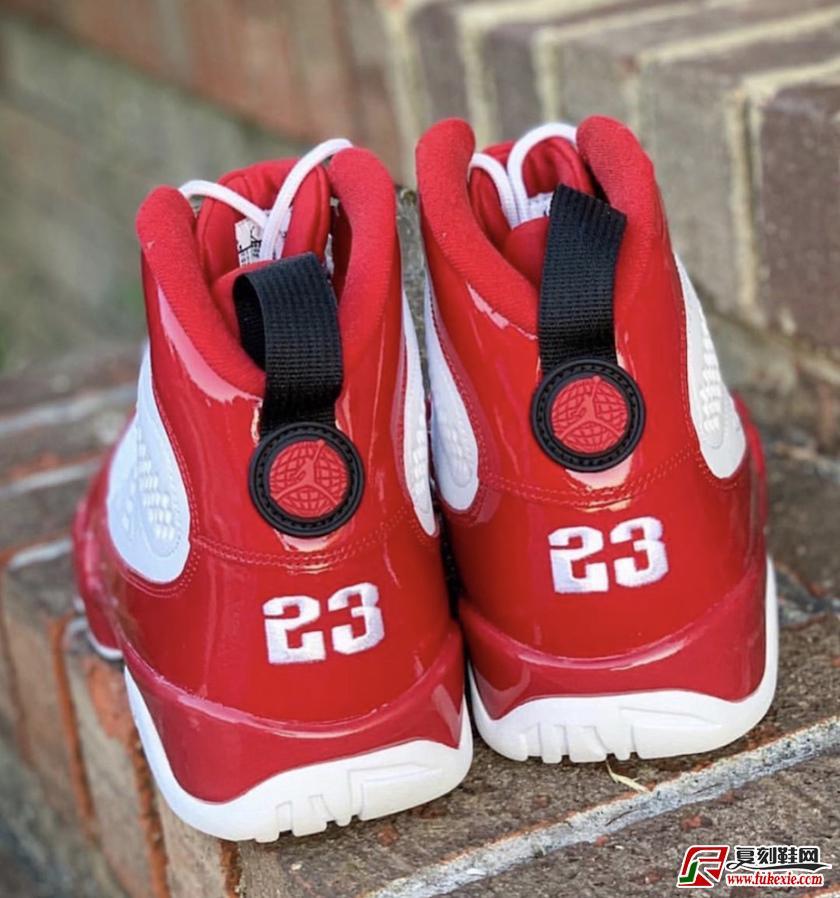 "Air Jordan 9""Gym Red""  经典白红货号:302370-160  | 复刻鞋网 fukexie.com"