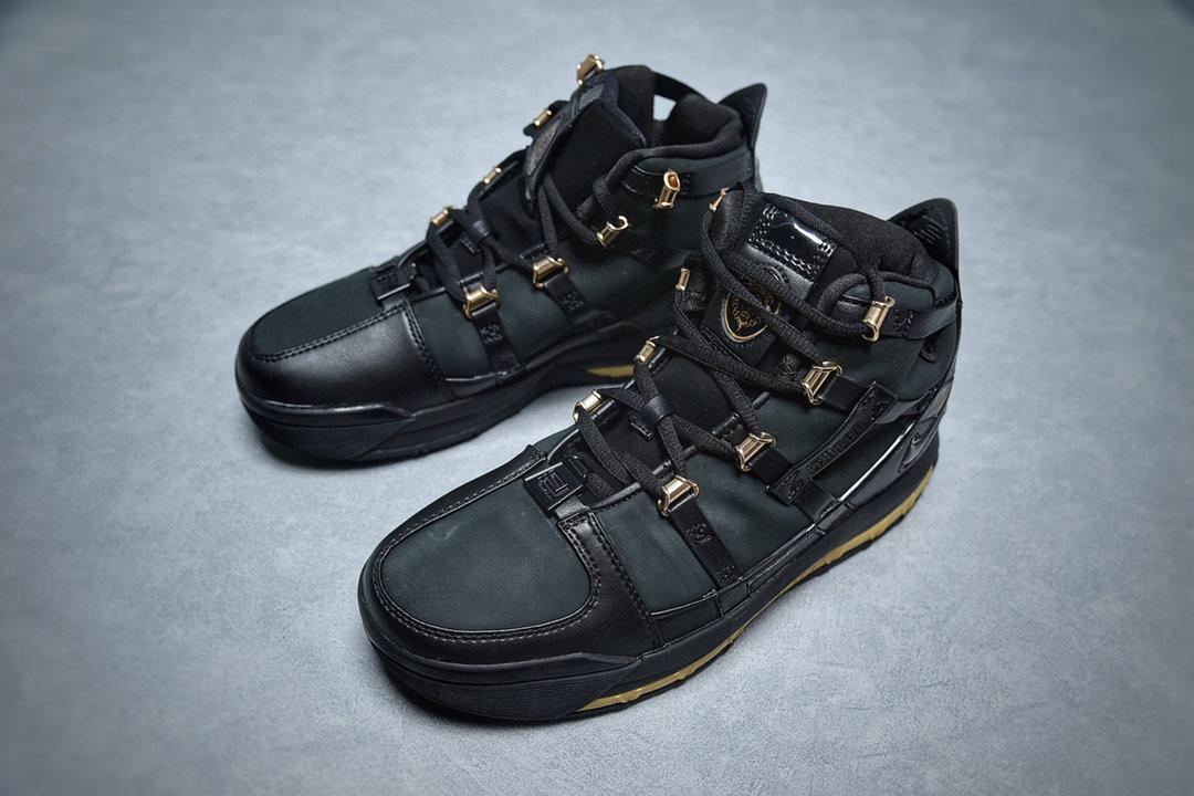 NIKE ZOOM LEBRON III LBJ3詹姆斯3代 男运动黑金篮球鞋 货号:AO2434-001