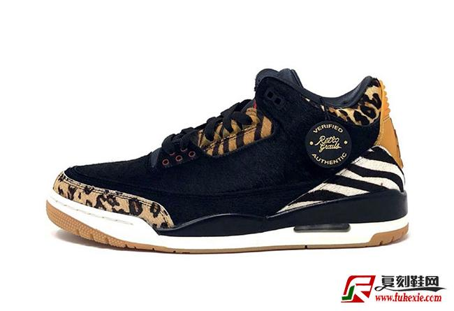 "Air Jordan 3 SP ""Animal Pack"" 货号:CK4344-001 发售日期:2020 年春季   复刻鞋网 www.fukexie.com"