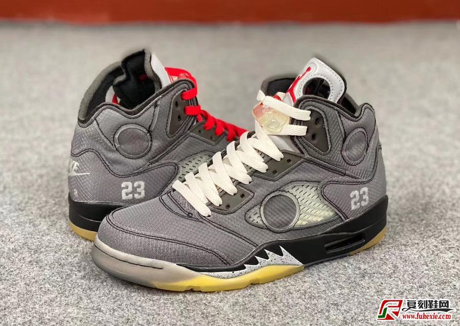 灰白色Air Jordan 5黑色CT8480-001