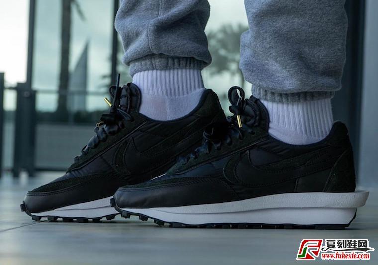 sacai Nike LDWaffle黑色尼龙BV0073-002发售日期价格