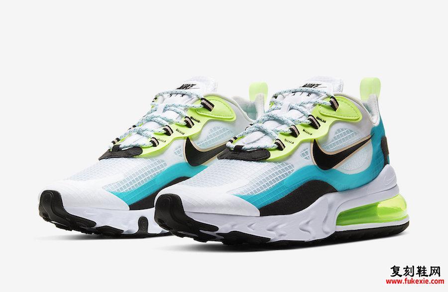 Nike Air Max 270 React Oracle Aqua CJ0579-001发售日期