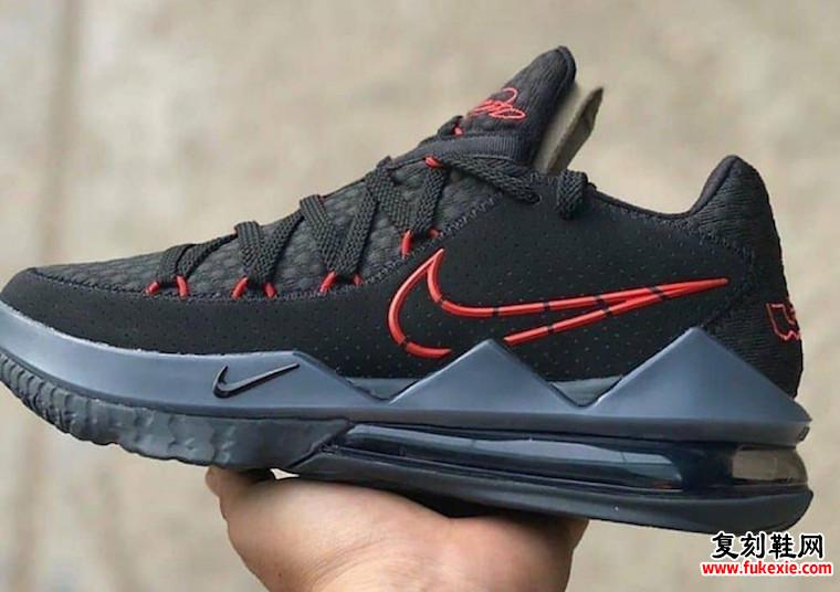 Nike LeBron 17 Low Black University Red CD5007-001发售日期