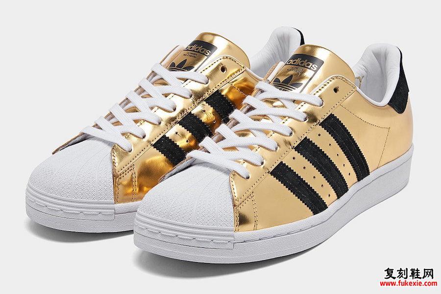 adidas Superstar Gold Metallic FX3900发售日期