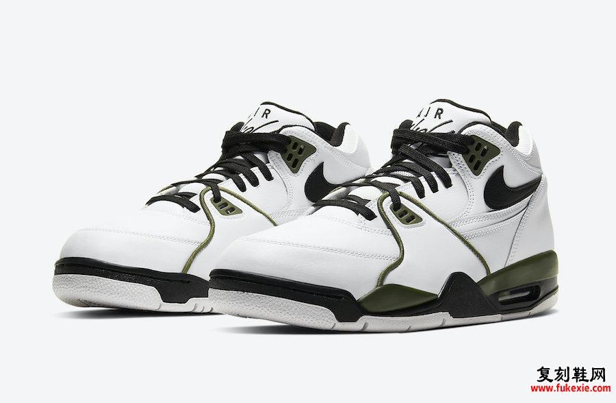 Nike Air Flight 89 White Medium Olive Green Black CJ5390-101发售日期信息