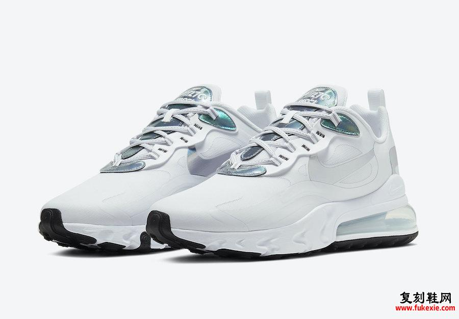 Nike Air Max 270 React White Iridescent CZ7376-100发售日期