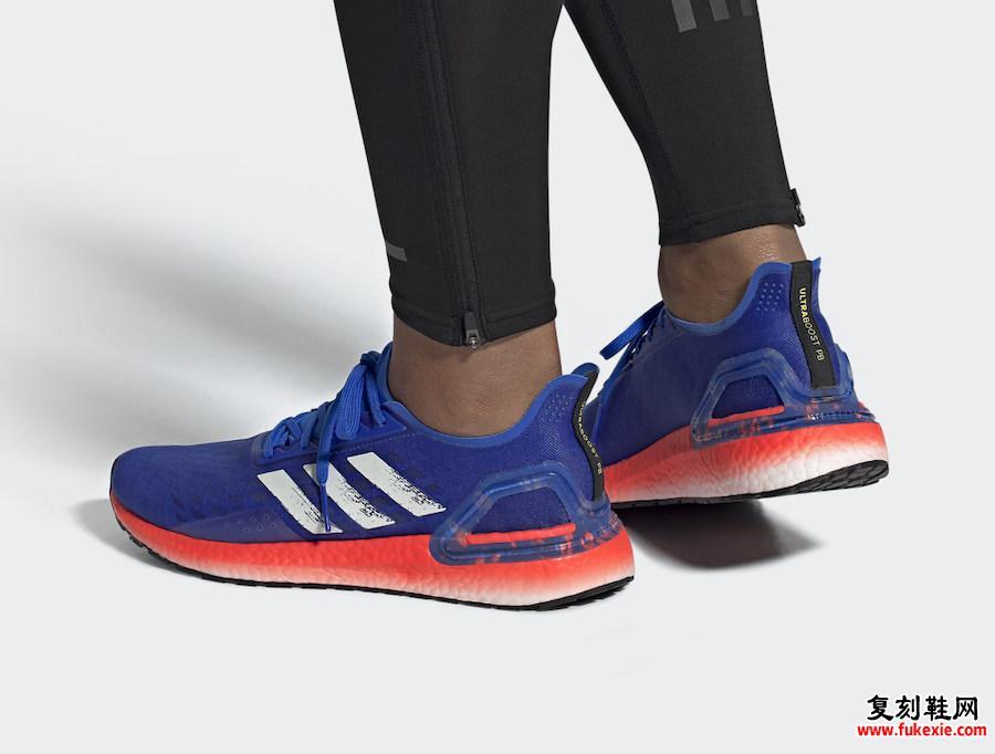 adidas Ultra Boost PB Glory Blue Solar Red EF0893发售日期