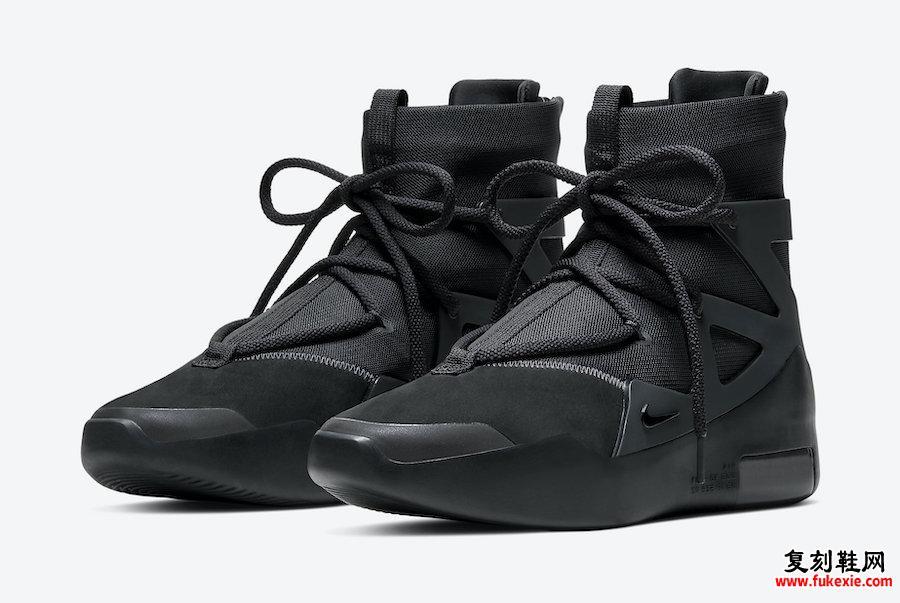 Nike Air Fear of God 1 Black Noir AR4237-005发售日期