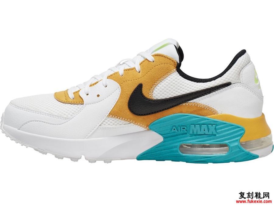 Nike Air Max Excee White Orange Green Blue CD4165-104发售日期信息