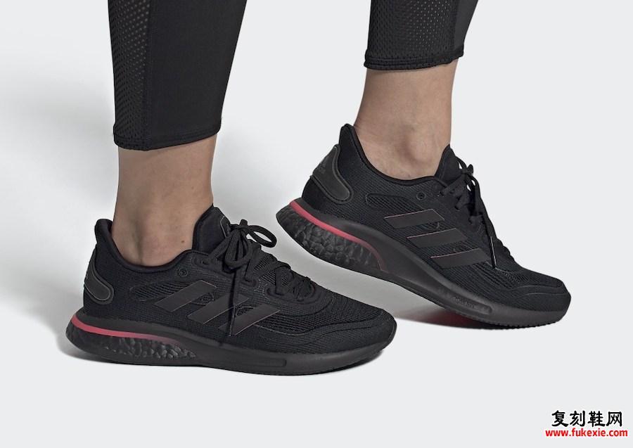 adidas Supernova Core Black Signal Pink FW8822发售日期