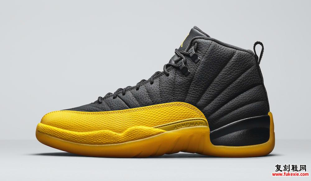 Air Jordan 12 Black Yellow 130690-070发售日期