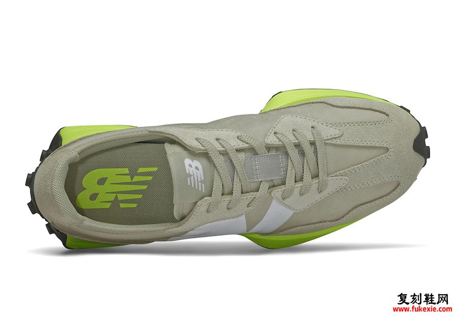 New Balance 327灰色霓虹绿发布日期信息