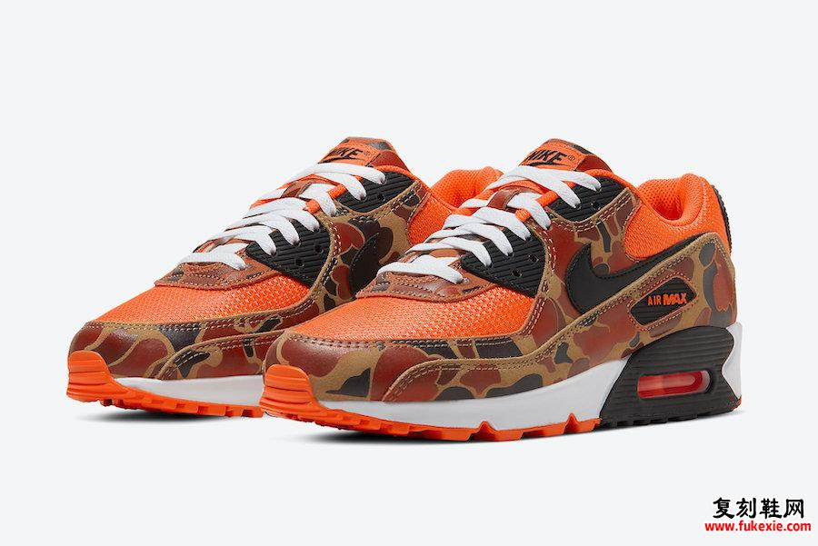 Nike Air Max 90 Orange Camo CW4039-800发售日期
