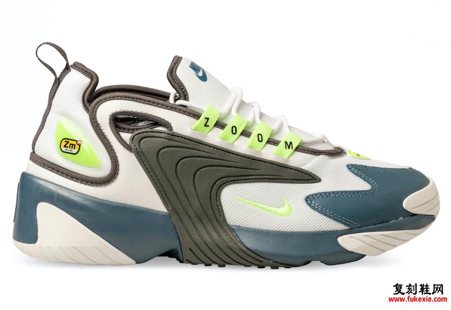 Nike Zoom 2K Ghost Green铁灰色雷暴AO0269-108发售日期