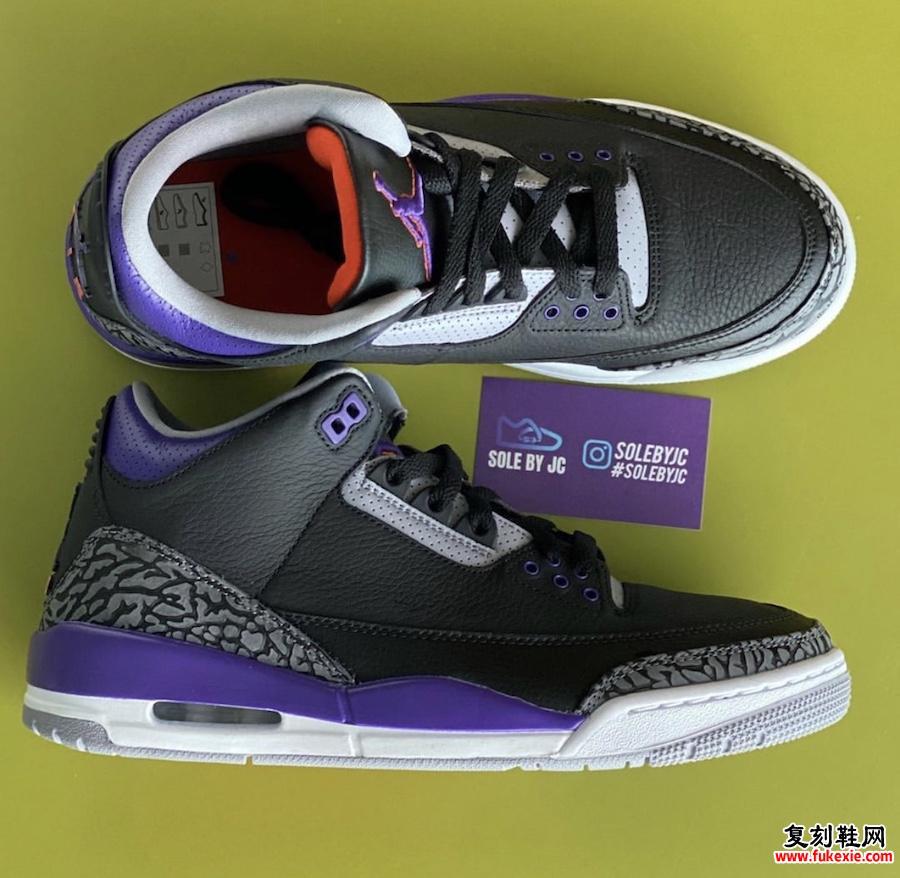Air Jordan 3 Court Purple Suns CT8532-050发售日期定价
