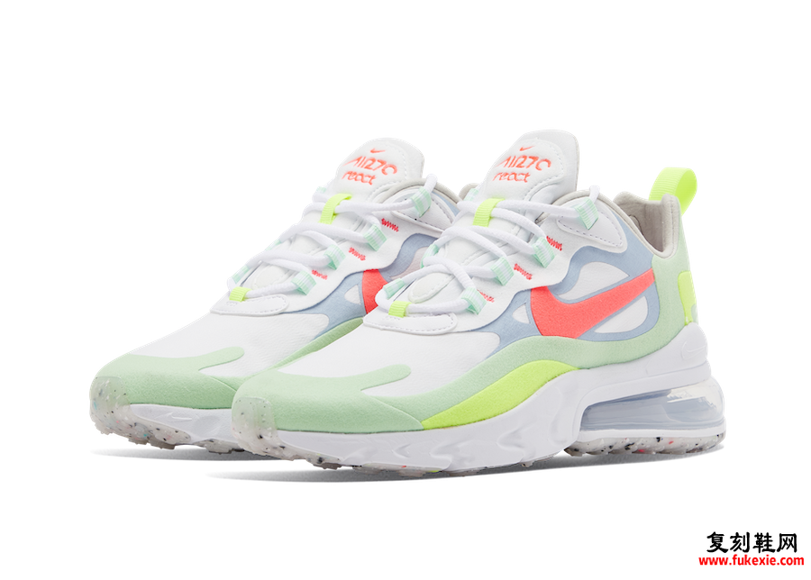 Nike Air Max 270 React Flash Crimson Cucumber DB5927-161发售日期