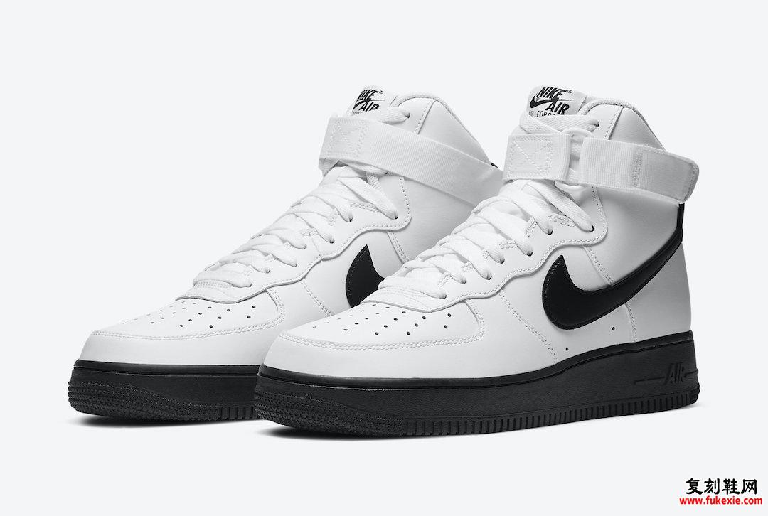Nike Air Force 1 High White Black CK7794-101发售日期信息