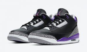 Air Jordan 3 Black Court紫色CT8532-050