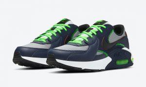 Nike Air Max Excee海军蓝霓虹绿CD4165-400发售日期
