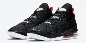 Nike LeBron 18 Black University Red White CQ9283-001发售日期信息