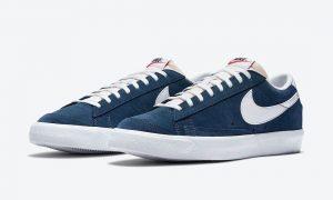 Nike Blazer Low Navy Suede DA7254-400发售日期