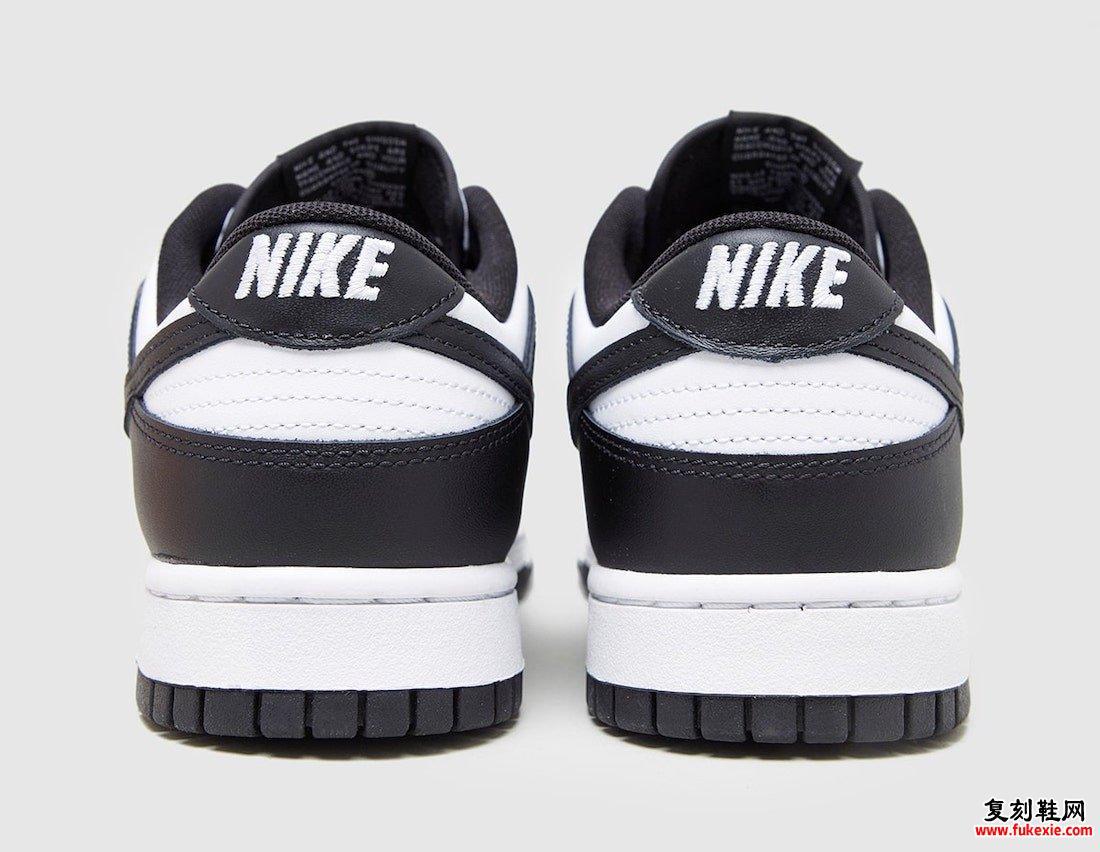 Nike Dunk Low White黑色DD1391-100 2021发售