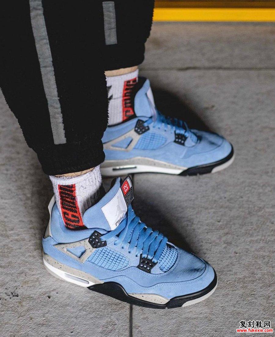 Air Jordan 4 University Blue CT8527-400上脚