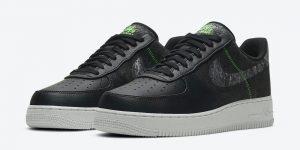 Nike Air Force 1 07 LV8 Black Electric Green CV1698-001发售日期