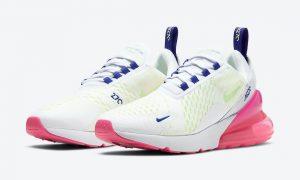Nike Air Max 270白色蓝色绿色粉色DH0252-100发售日期