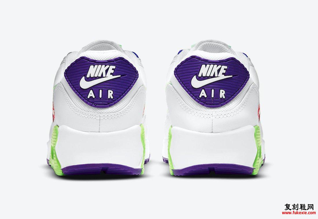 Nike Air Max 90 Green Pink Purple DH0250-100发售日期