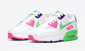 Nike Air Max 90 Green Pink Purple DH0250-100发售日期