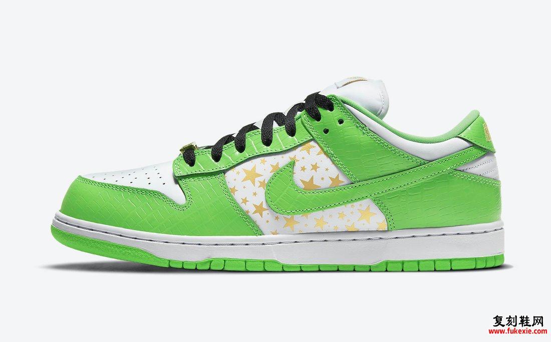 Supreme Nike SB Dunk Low Mean Green DH3228-101发售信息价格