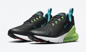 Nike Air Max 270 Black Neon Green Blue Pink DJ5136-001发售日期