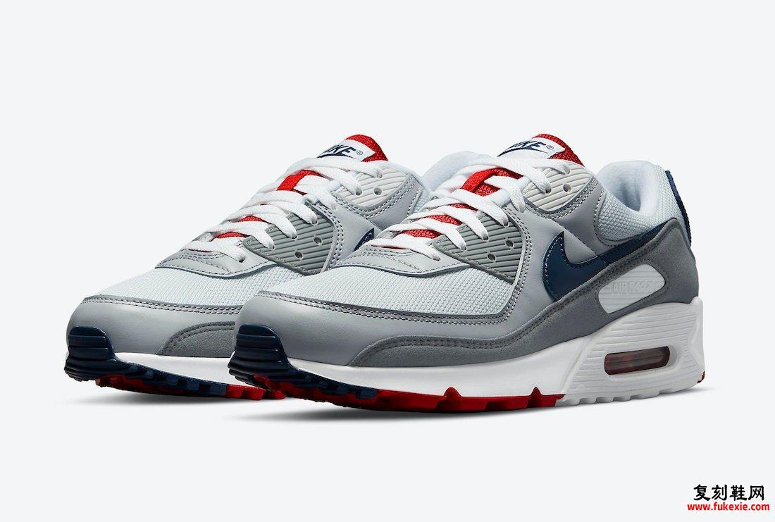 Nike Air Max 90 Pure Platinum Midnight Navy狼灰色CZ1846-001发售日期