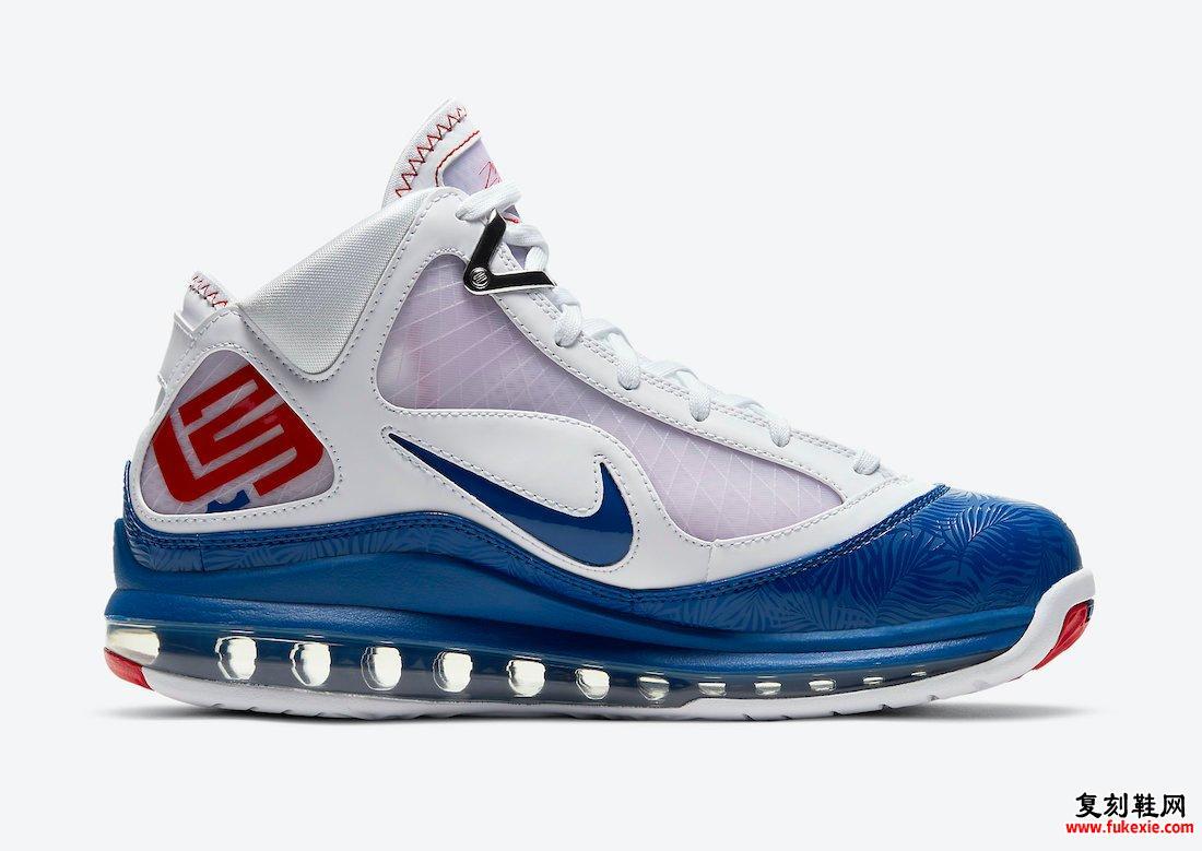 Nike LeBron 7 Dodgers DJ5158-100发售日期