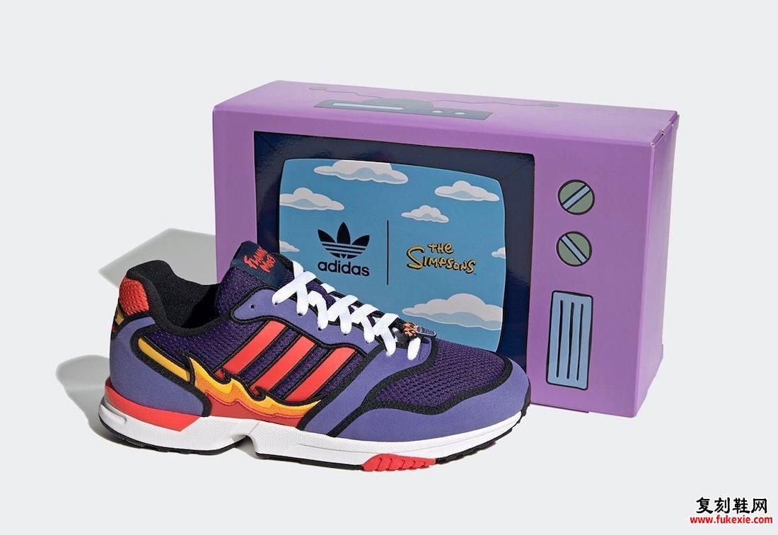 Simpsons adidas ZX 1000 Flaming Moes H05790发售日期