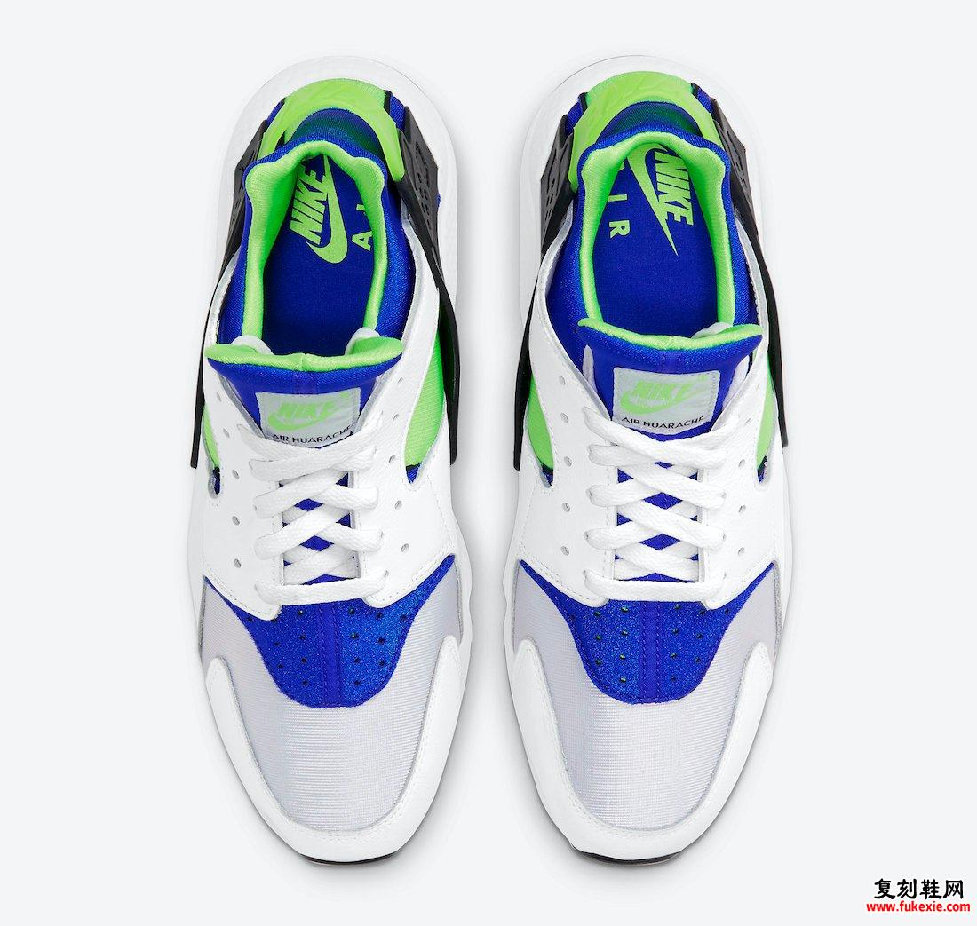 Nike Air Huarache Scream Green DD1068-100 2021发售日期