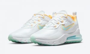 Nike Air Max 270 React White Yellow Blue DJ3027-100发售日期