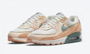 Nike Air Max 90 PRM Light Bone Dutch Green Shimmer DM2829-002发售日期